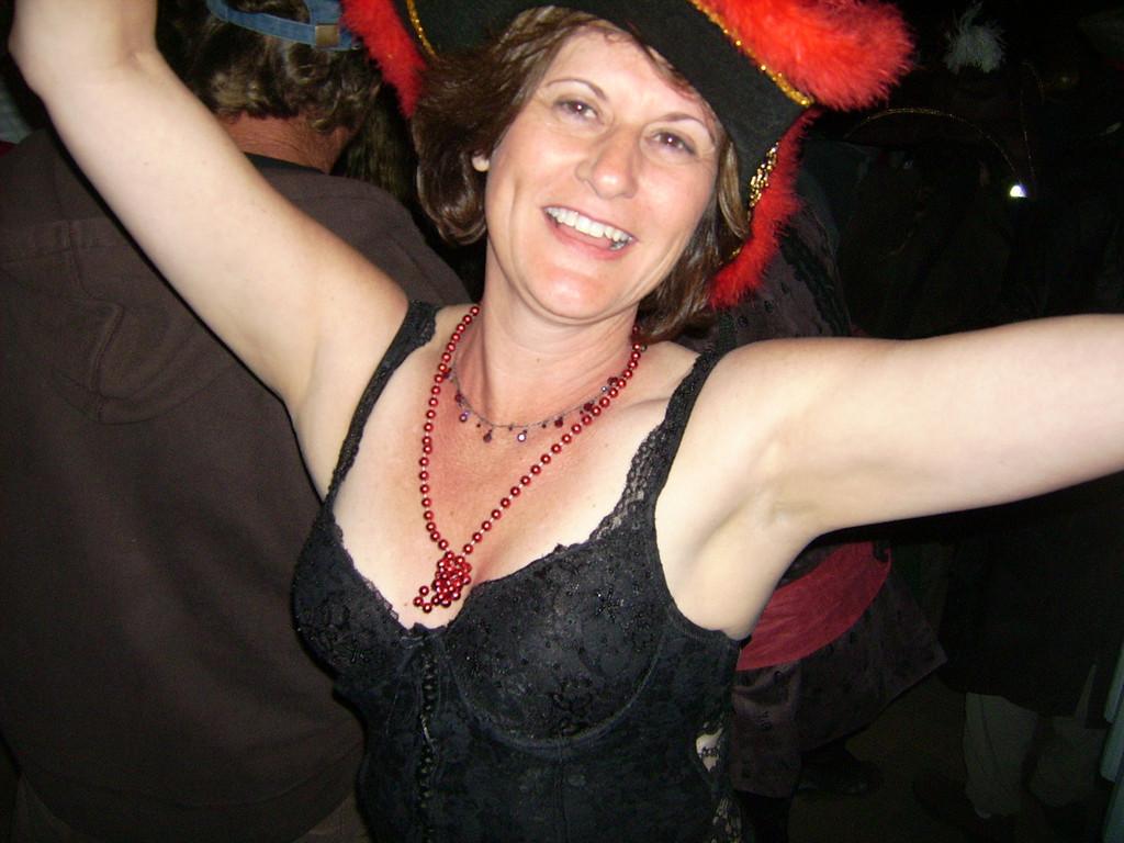 """<H2><font color=""""gold"""">Yaarrrr, Arrr!  Welcome me hearties, to a photo journal of the fun we had at Buccaneer Days 2007 in Two Harbors, Catalina Island, California on the Conejo Ski & Sports Club camping trip.  This is Laura, whose smile sums up the great time we had and the fun and adventure that awaits you within as you travel through our Journal pages.</h2></font>"""