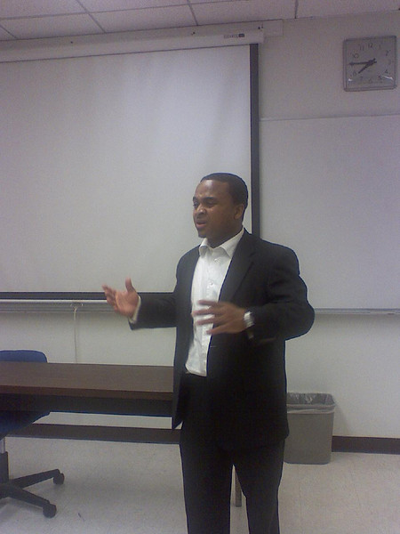 Jaaye discussed job interviewing and legal issues.