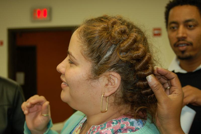 Lisa's hair do--created in Mexico.