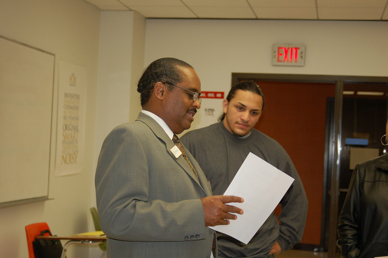 Dean Jones  speaks to Carlos Escobar about his resume.