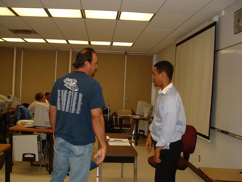 Mock Job interview between Eleazar and Yoseph.