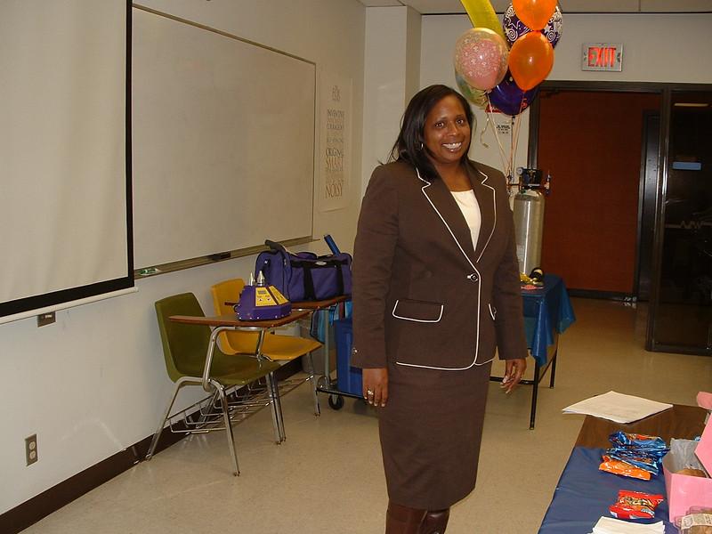 Hope Dunn makes her oral presentation!