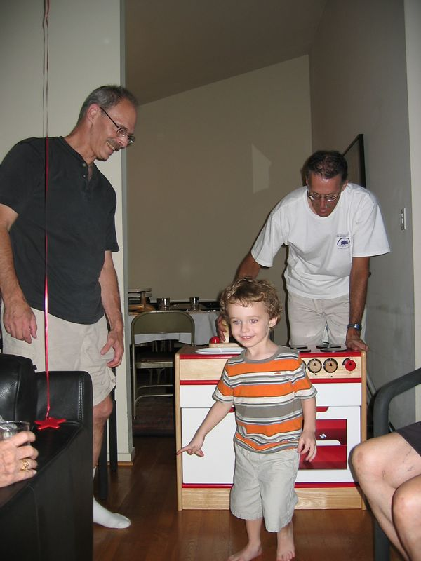 Our budding chef gets a kitchen set!