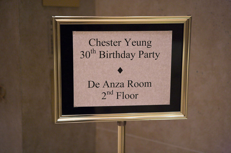 Signs point to Chester's 30th Birthday Party