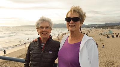 Joyce and Donna at the Santa Monica beach