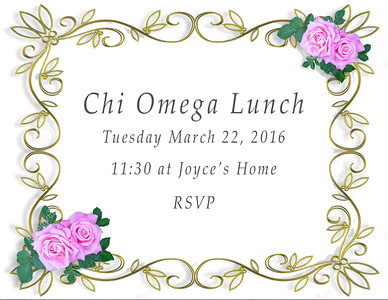 Chi Omega Luncheon - March 2016