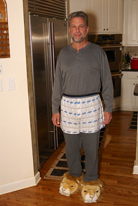 Elizabeth's husband Bob... great boxers and slippers!