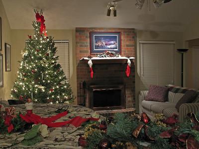 my living room at Christmas
