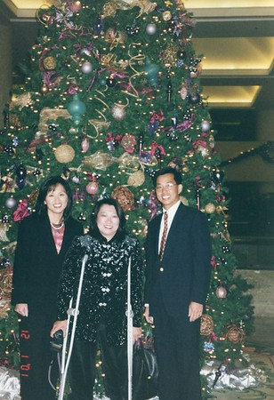 Christmas pic with Serena 2001