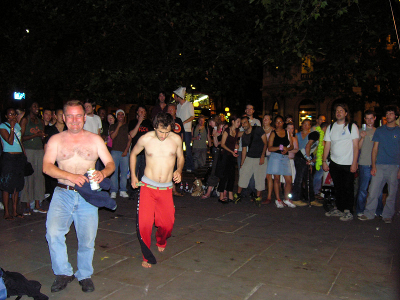 Capeoira dancers