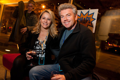 Cherie Rooney and Phill Lawson-Shanks at the DC Week closing party at the Arena Stage in Washington, DC. Photo by Dakota Fine.