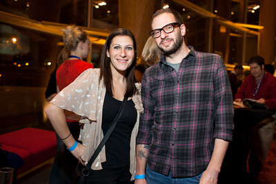 Shana and Adam Glickfield (siblings) at the DC Week closing party at the Arena Stage in Washington, DC. Photo by Dakota Fine.