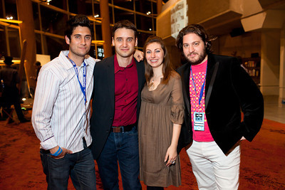 DJ Saul, Frank Gruber, Jen Consalvo and Peter Corbett at the DC Week closing party at the Arena Stage in Washington, DC. Photo by Dakota Fine.