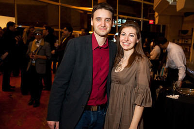 Frank Gruber and Jen Consalvo at the DC Week closing party at the Arena Stage in Washington, DC. Photo by Dakota Fine.