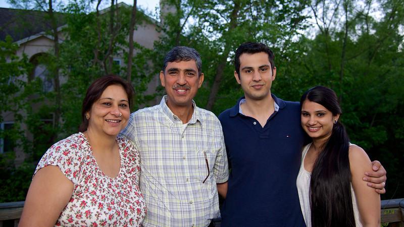 Sangeeta, Sanjeev, Sam and Aleykhia Dhawan- May 2013