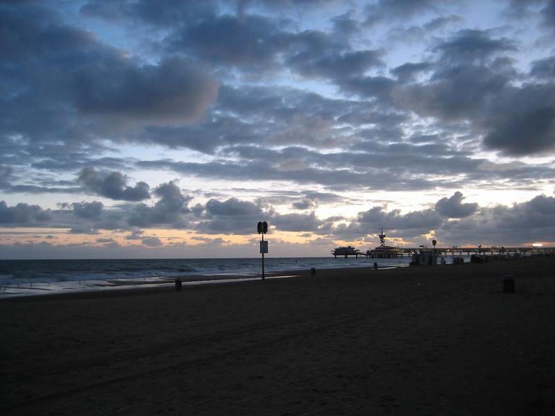 Sunrise at Scheveningen beach