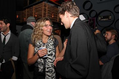 Alex Doniach talking with Michael Breyer.