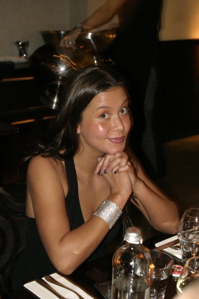 Jaime, the model, with bling-bling bracelet