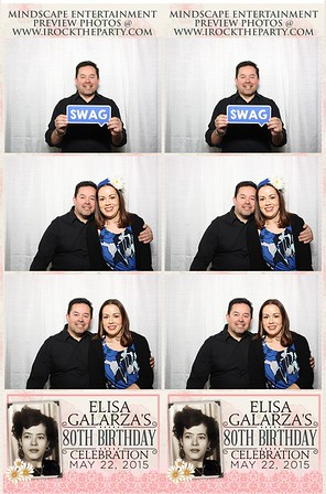 Elisa Galarza's 80th Birthday Party - Photo Booth Pictures