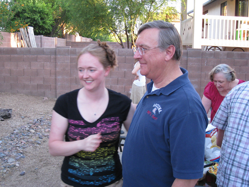 Marybeth and her Dad, mom in background.