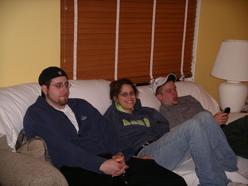 Chris, Nora and Evan just 'chill in'.