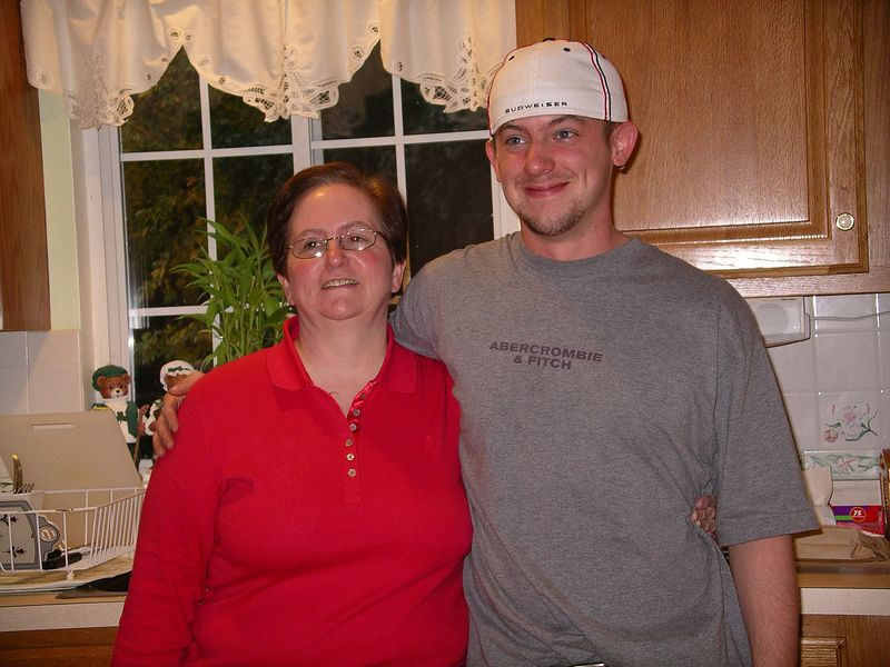 Evan with Aunt Joan