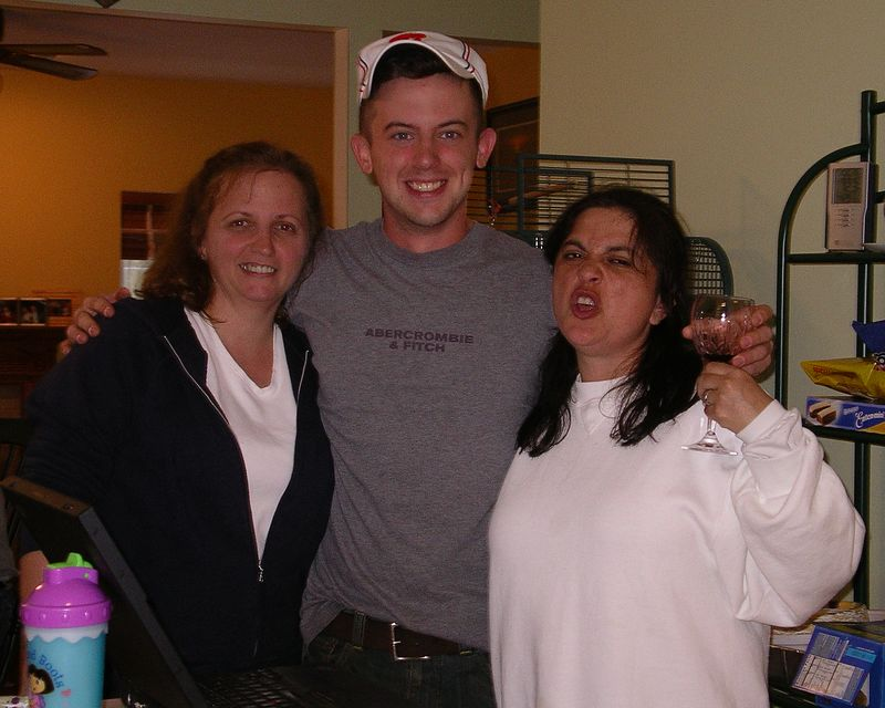 Aunt Barbara, Evan and Diana. Diana, whose wine is that anyway?