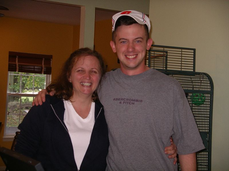 Evan with his Aunt Barbara.