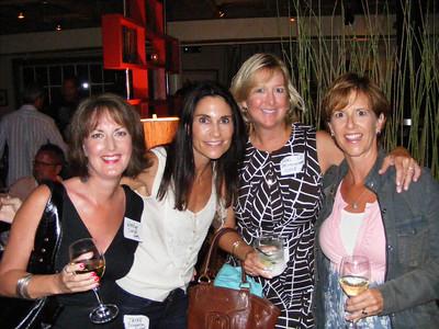 Wendy Carson Flammer, Jayne Draganza Murrel, Lori Brittingham Viole, and Sally Escher ('79)
