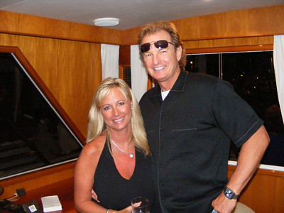 Debbie Beatty Boucher brought her new beau, Norm, who wore his night shades, just incase the party lasted 'till morning!