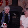 A spot by the fire: Ouida Parker and Judy Swarner