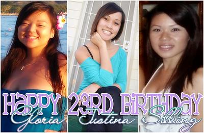 Gloria, Justina, & Silling's 23rd Birthday @ Bayside Pavillion - Fri 10.21.11