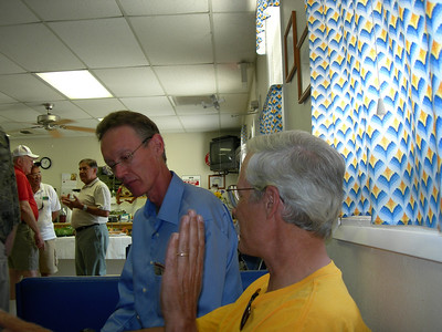 Bryan Allen in blue shirt, Ted Ancona to right. Sam Duran in background.