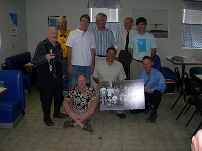 Standing, left to right: Henry Jex, Ted Ancona, Pete Plumb, Bill Watson, Joe Mastropaolo, Taras Kiceniuk Jr. In front: Phil Esdaile, Sam Duran, Bryan Allen.