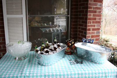 The beer table.