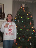 Decorating our tree and enjoying some bubbly!  The best part -- Stanford beat Cal in the Big Game this year!