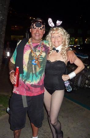 Pat PlayboyBunny and some guy 103010 Halloween eve