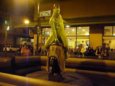 Green man on mech bull Dntn Hon 103010 905