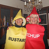 Karen as Mustard and Corrine as Ketchup.