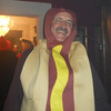 Steve as a hot dog.