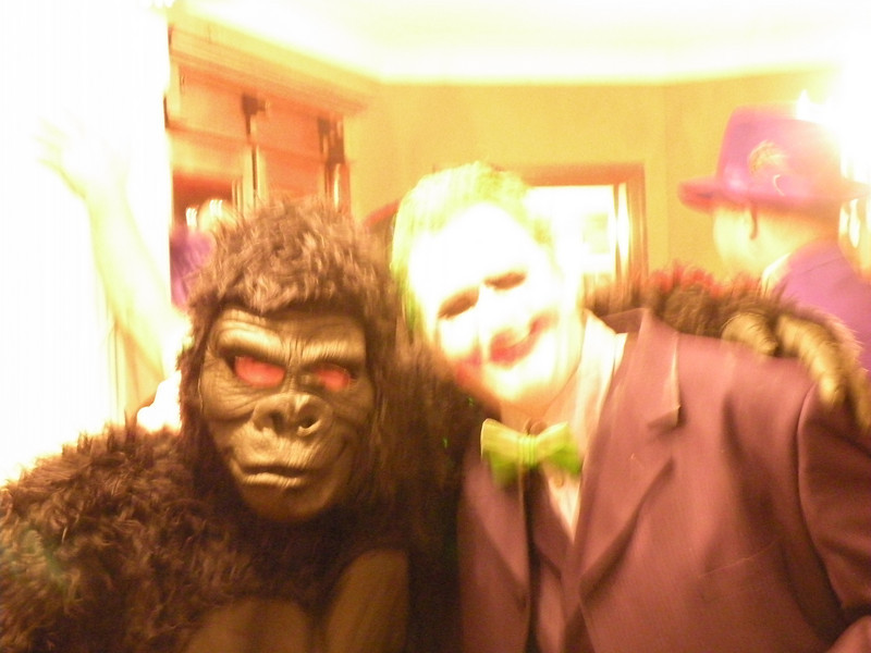 Tim and Alan, a Gorilla and the Joker