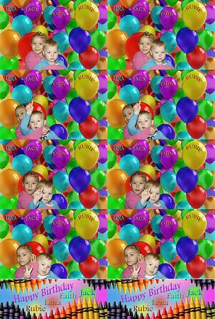 Happy Birthday Faith, Lena, Jack and Rubie