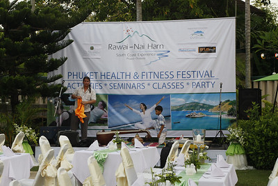 """Phuket Health & Fitness Festival 2012 - Opening Party at Mangosteen Resort & Ayurveda Spa! Started early morning with the """"plant a tree"""" ceremony by Dr. Subhash, evevning party with healthy cocktail, light dishes on the pool deck with Anand Jagota's Music and the special show by Ahmad Alkhatib, the Dervish!"""