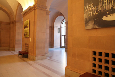 After entering from Van Ness Avenue, you will enter this lobby of the Herbst theater.  There are additional smaller and side gathering spaces as well.