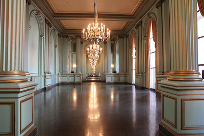 The historic Green Room, the space to be used for Ross's reception after his inauguration.