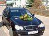 Das Hochzeitsauto mit Blumengesteck