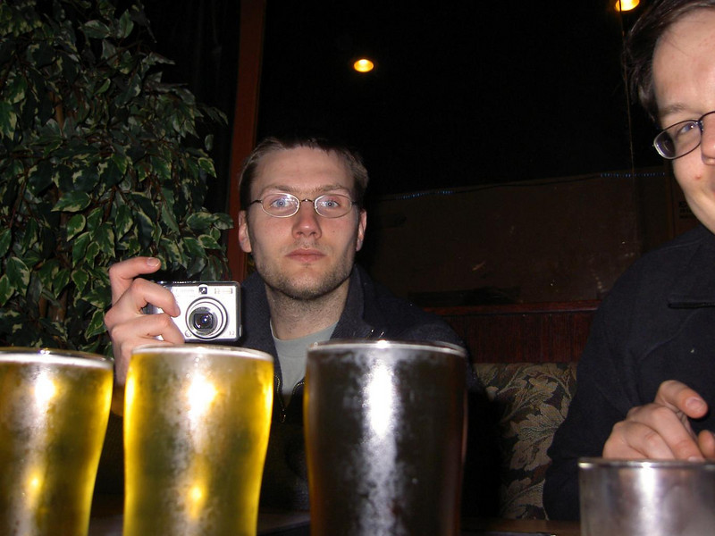 Stags Night in Seattle: The beer sampler still full