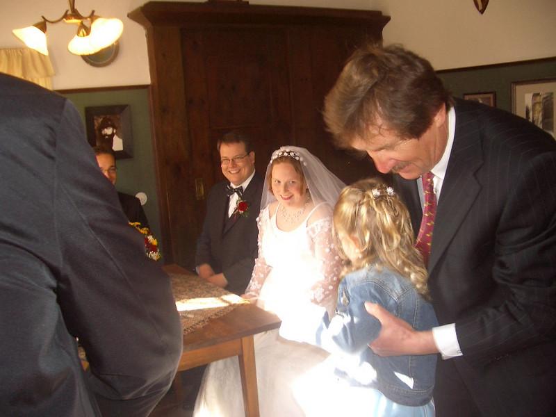 Brautpaar, Vanessa und Tinis Vater