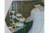 Anschnitt der 5stöckige Hochzeitstorte