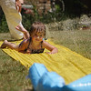 Holly tries the slip-n-slide...